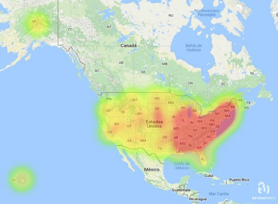 Heat map reveals that East Coast has better average Internet ...