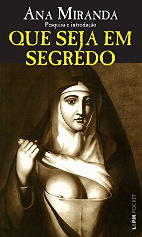 "Cover for book ""Que seja em Segredo"" — nun baring her breast so the nipple is slightly visible."