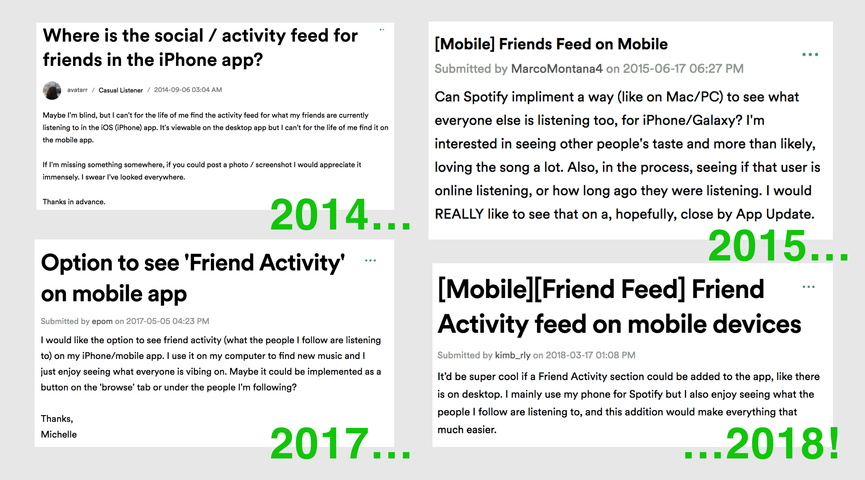 Spotify UX Case Study: Bringing Friend Activity to Mobile