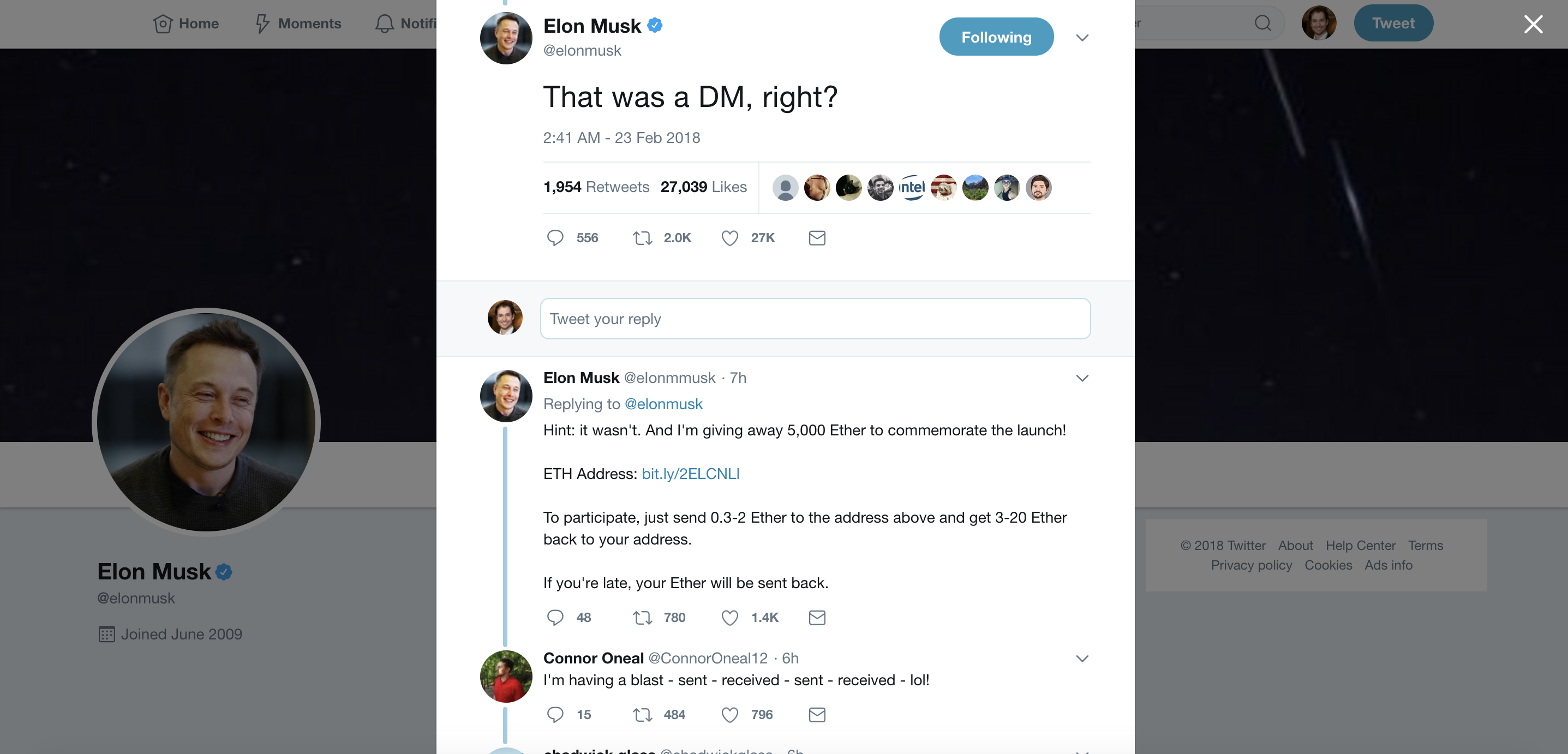 Twitter Scam Elon Musk is not giving you free ETH, one tweet has ...