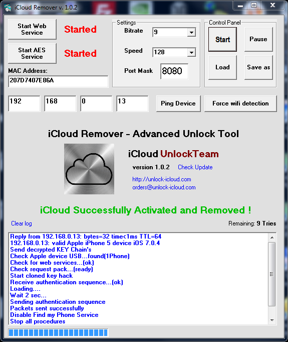 iCloud Remover Free Download for Windows 10, 7, 8/8 1 (64