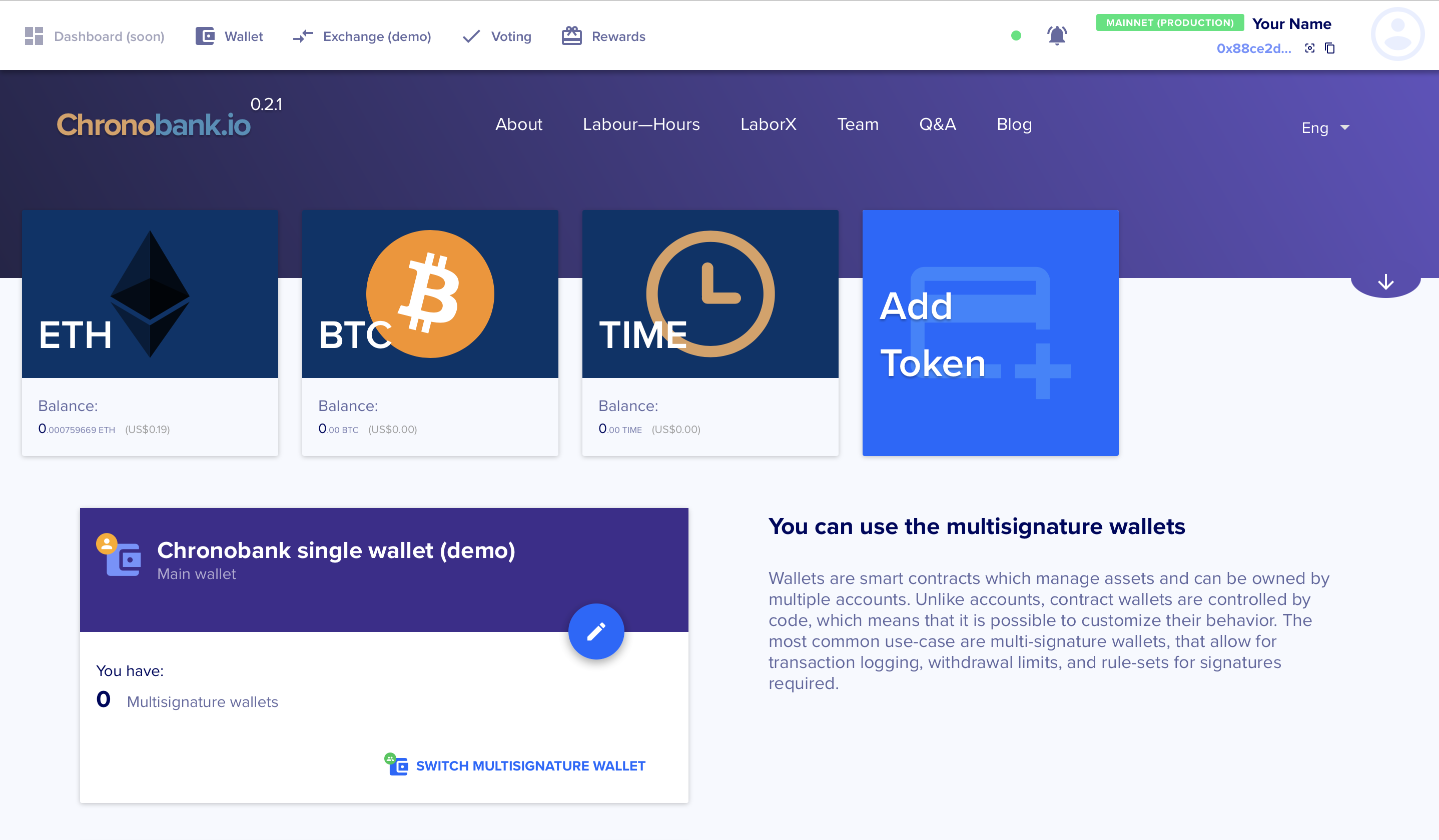 How to transfer TIME from the exchange to ChronoWallet?