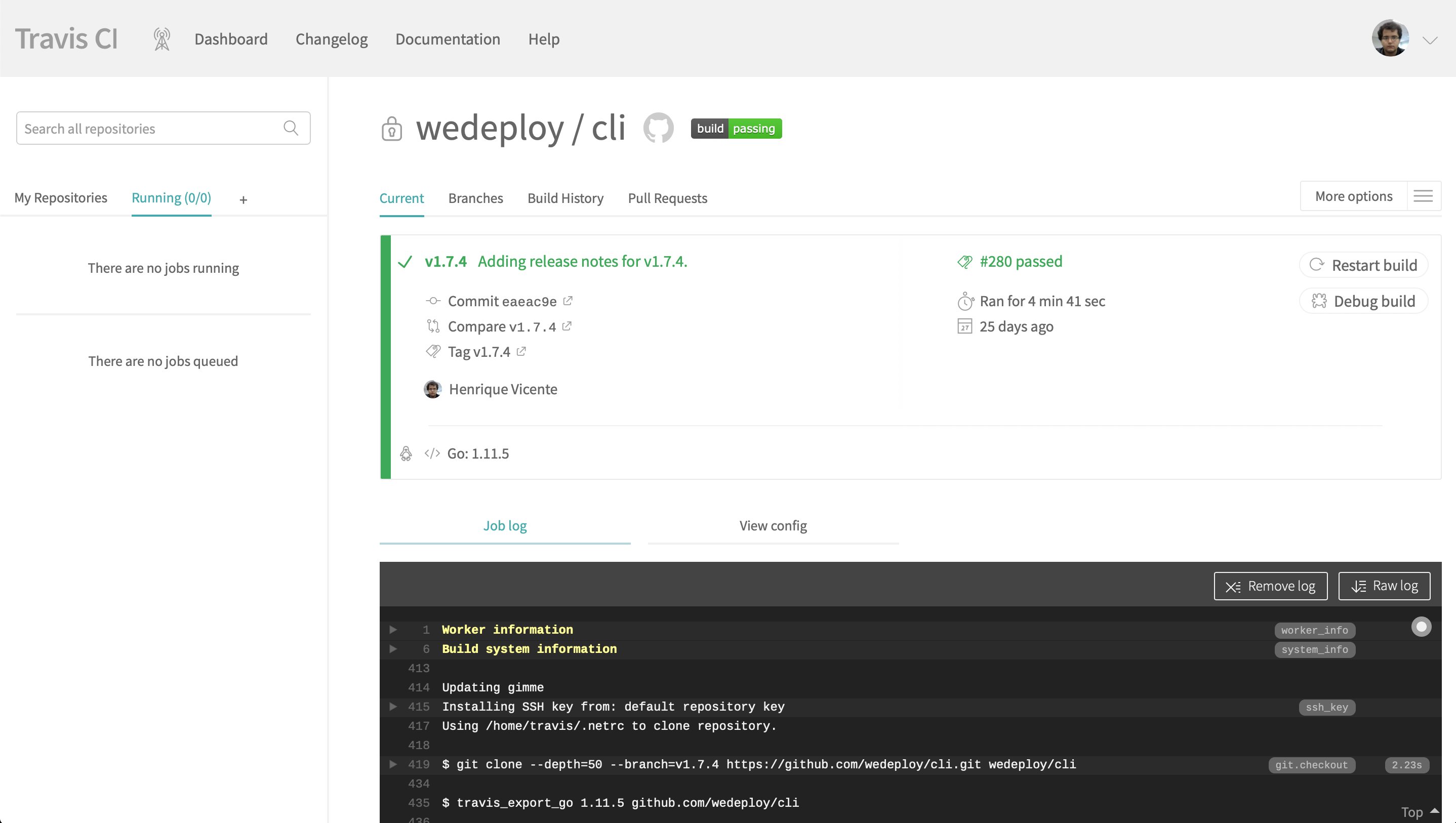 CLI tool software release process - Henrique Vicente de