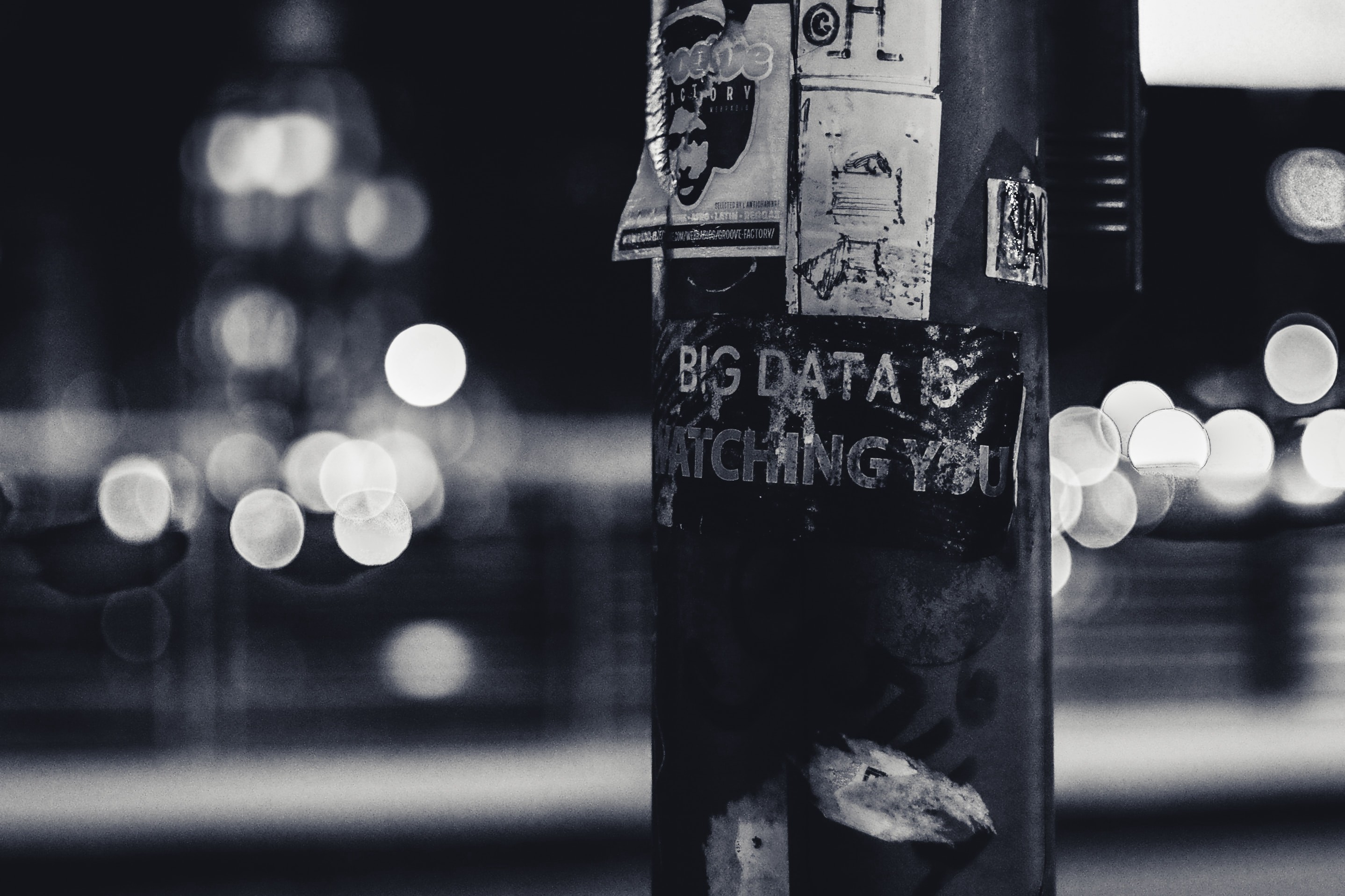 "signpost that says, ""Big Data is Watching You"""