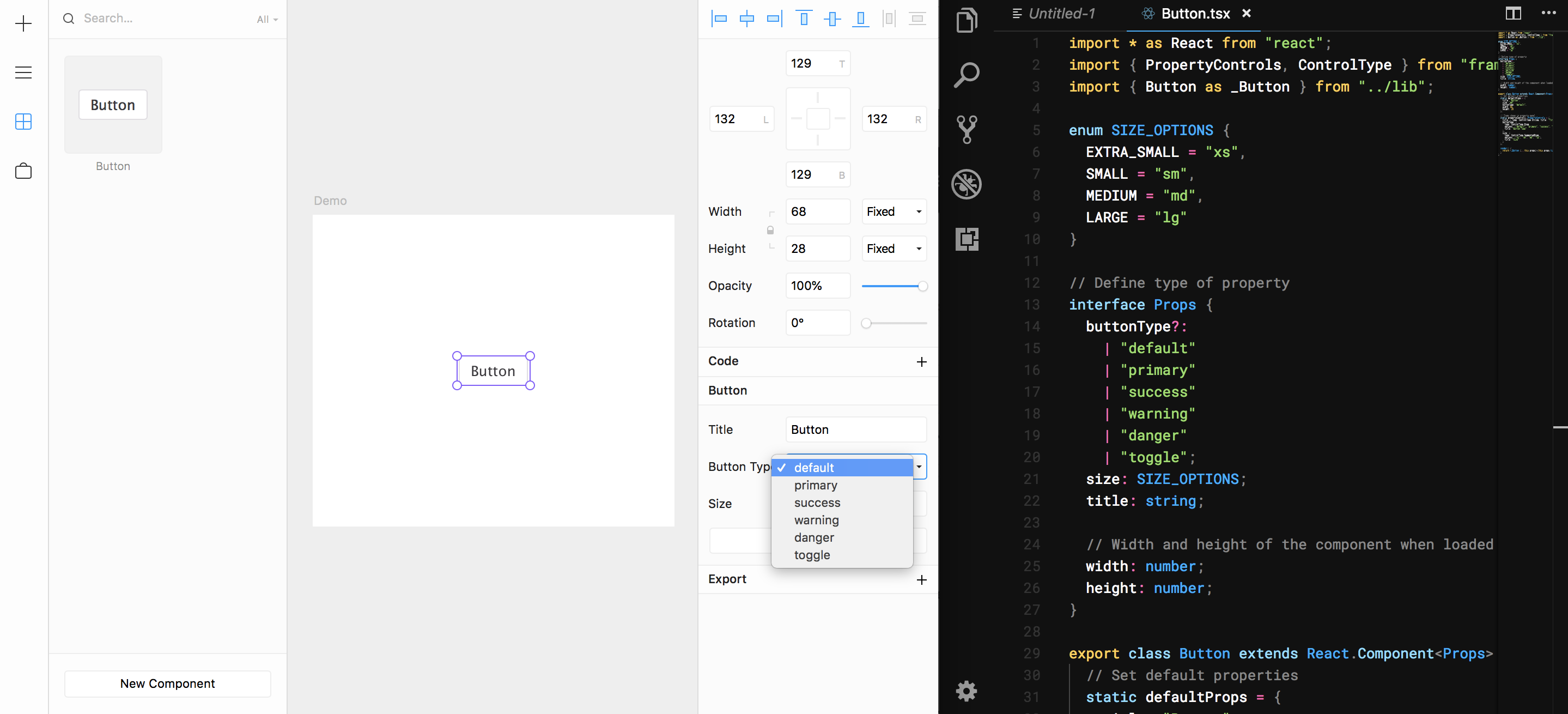 Bringing Design System Components from Production into Framer X