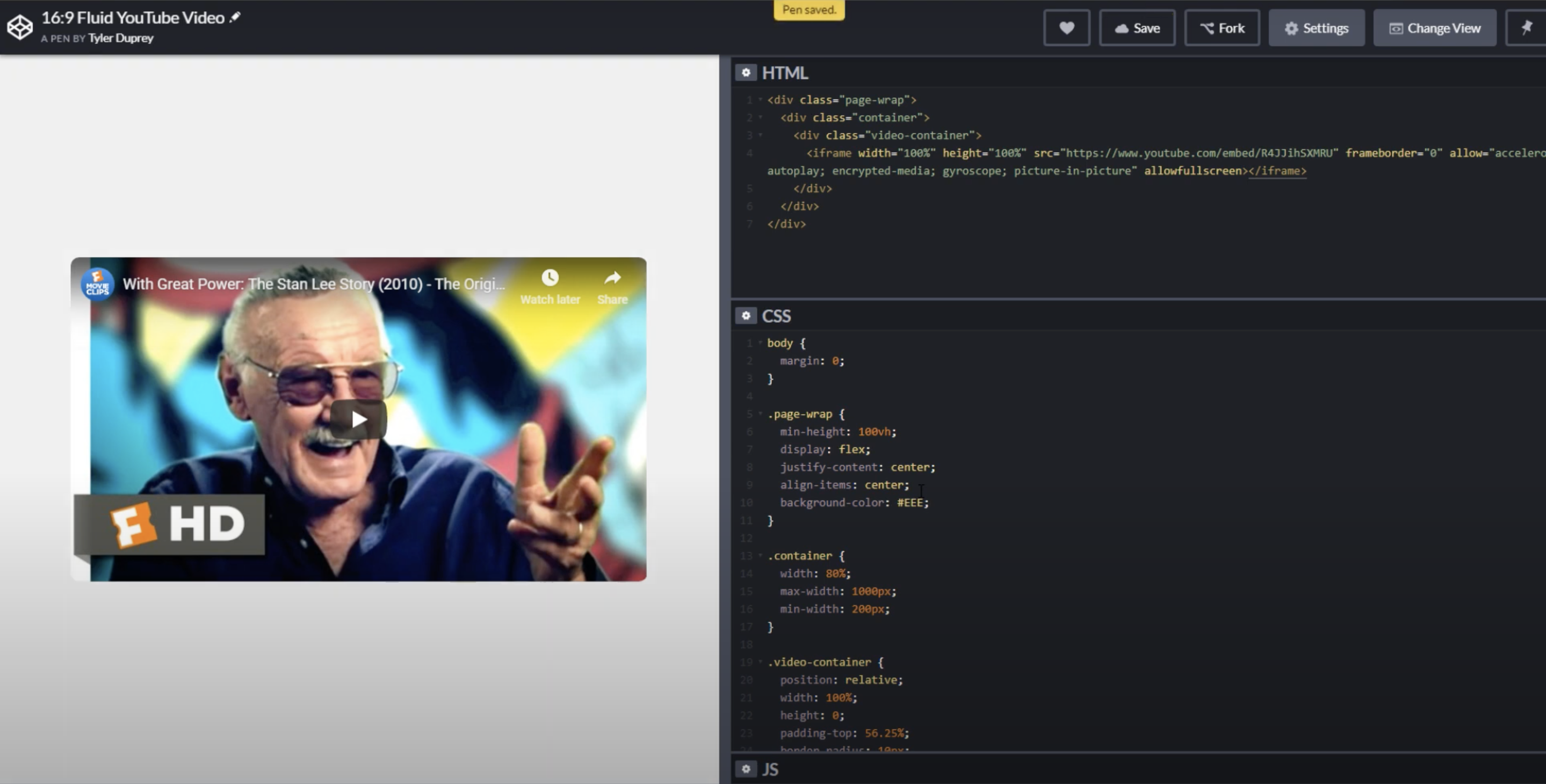 A Perfect Video Container With Css By Tyler Duprey Medium