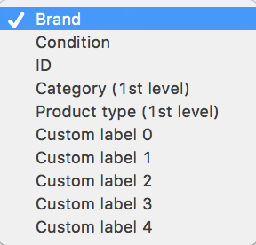 Product group categories