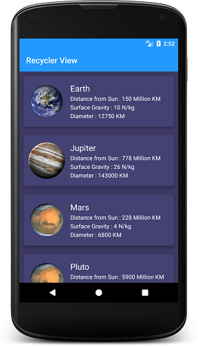 Android CardView with RecyclerView - Droid By Me - Medium