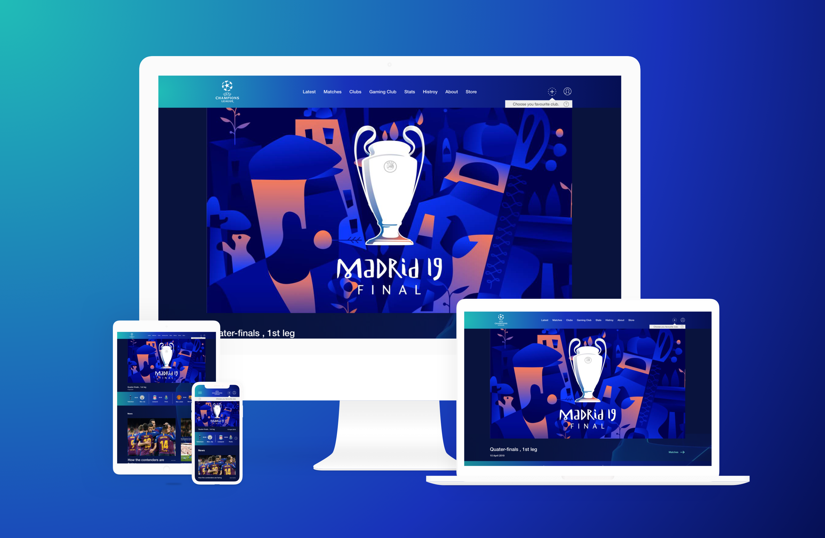 Cleaning up UEFA champions league Homepage - UX Planet