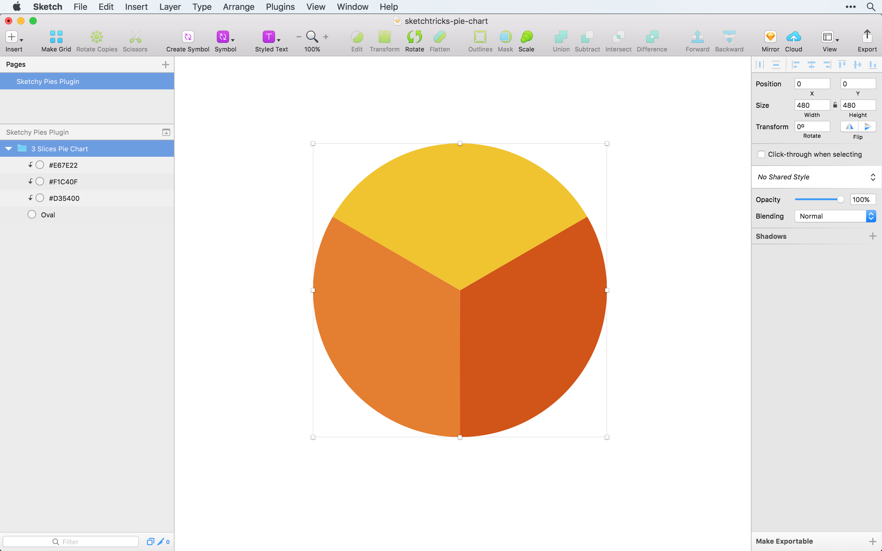 Creating a Pie Chart in Sketch the right way - Sketch Tricks
