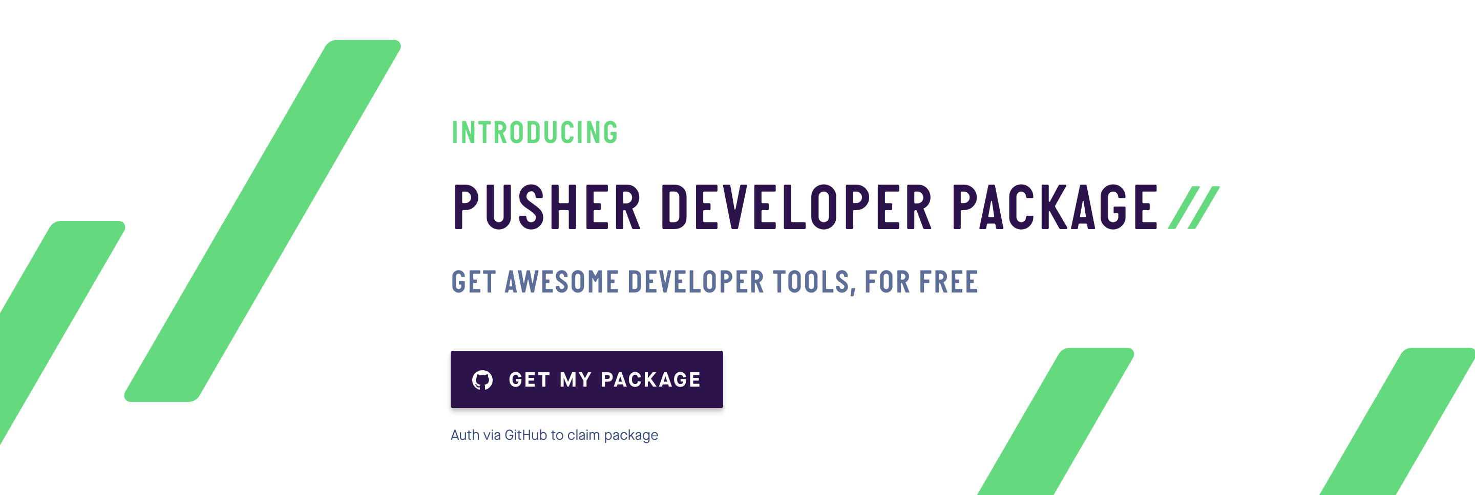 The Pusher Developer Package — free software on us!