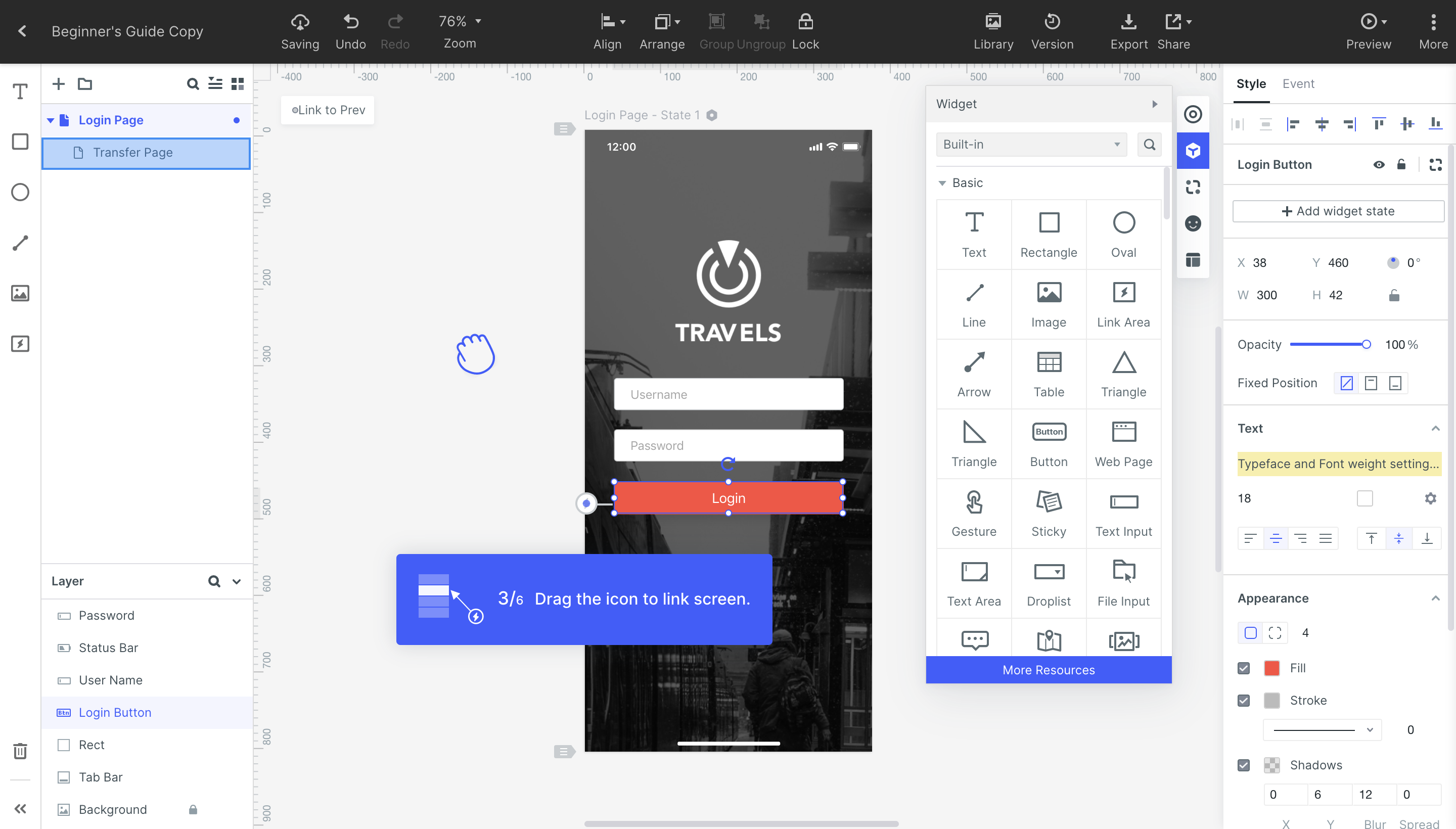 Onboarding feature that helps users to learn quickly.