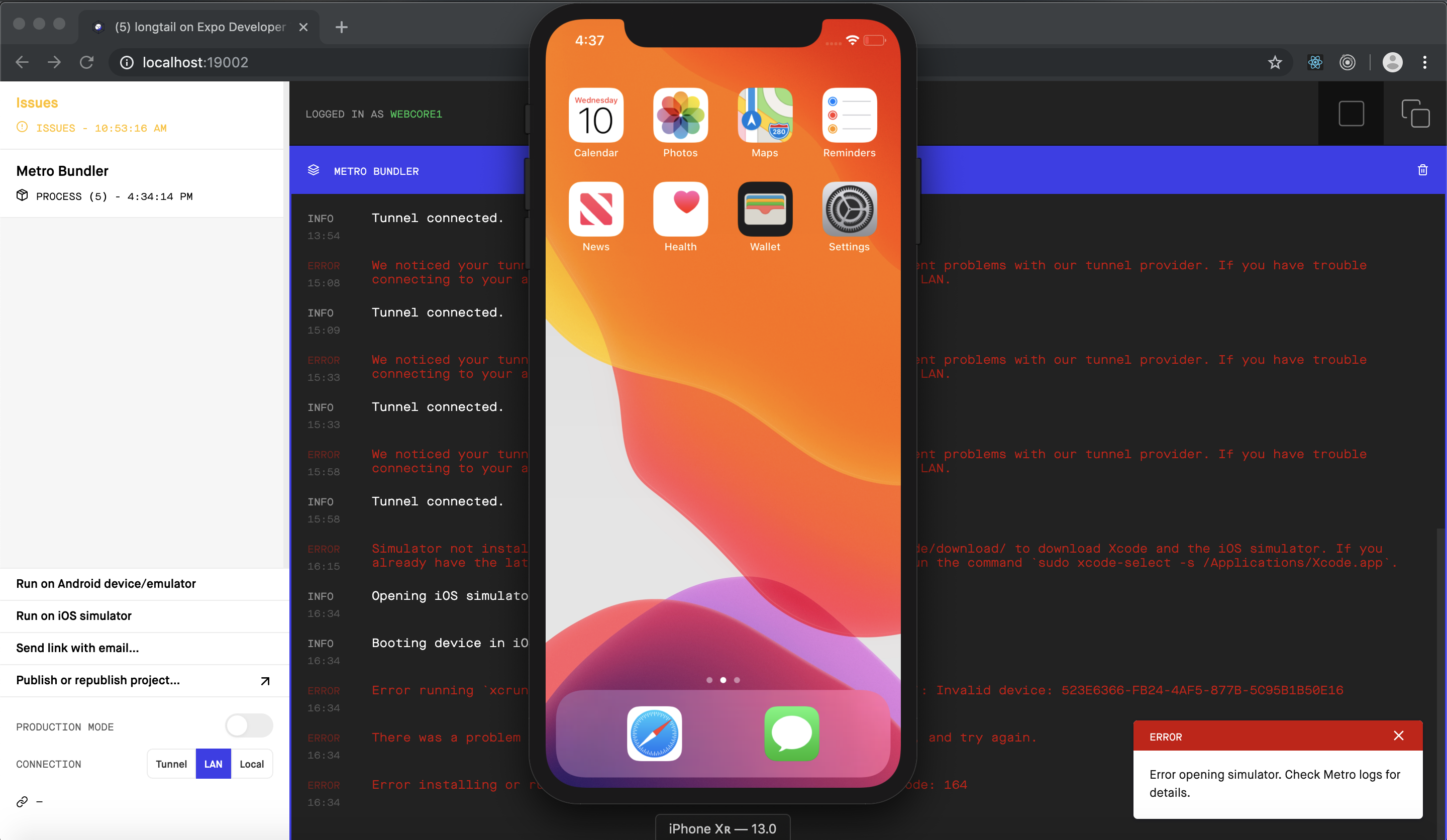 How Run Expo for React Native On Your iOS Device and First