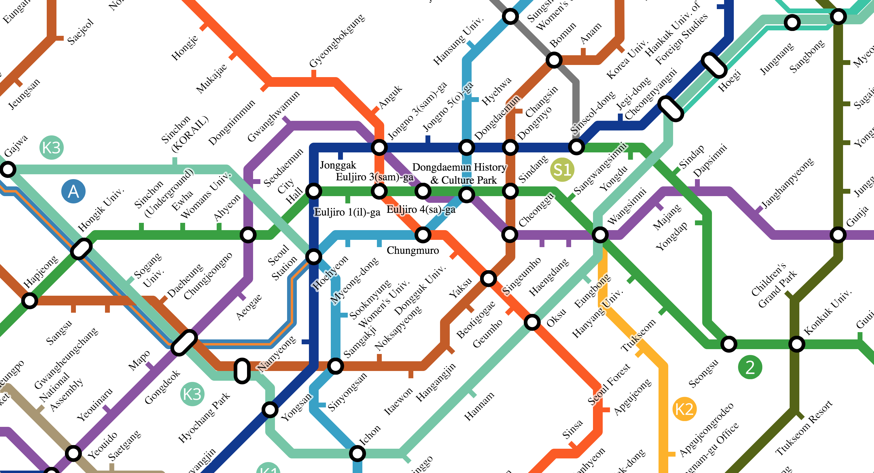 Korean Subway Map English.A Comprehensive Review Of Seoul S Subway By Reverse Engineers Medium