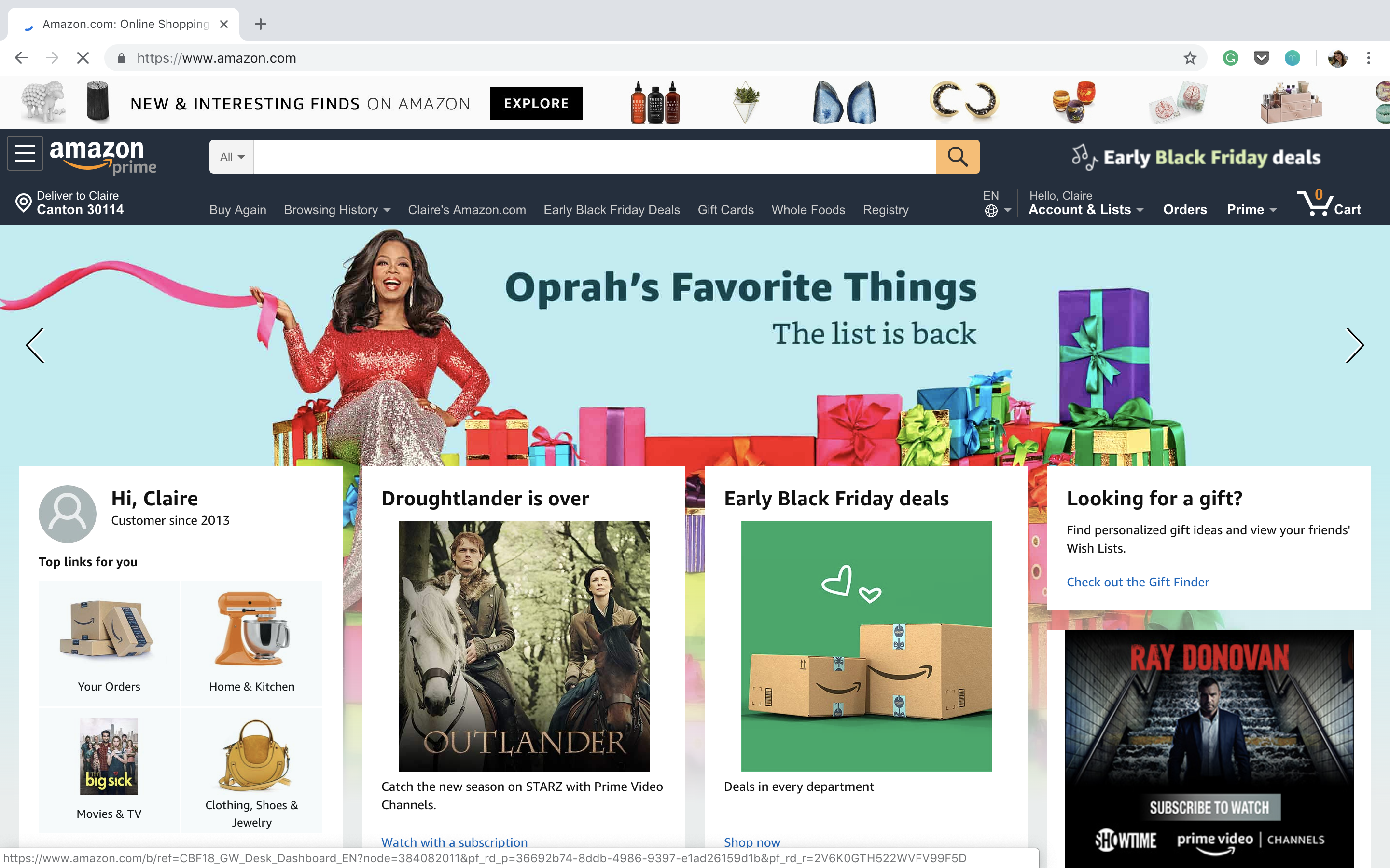 Dear Amazon: love your service, hate your homepage - UX