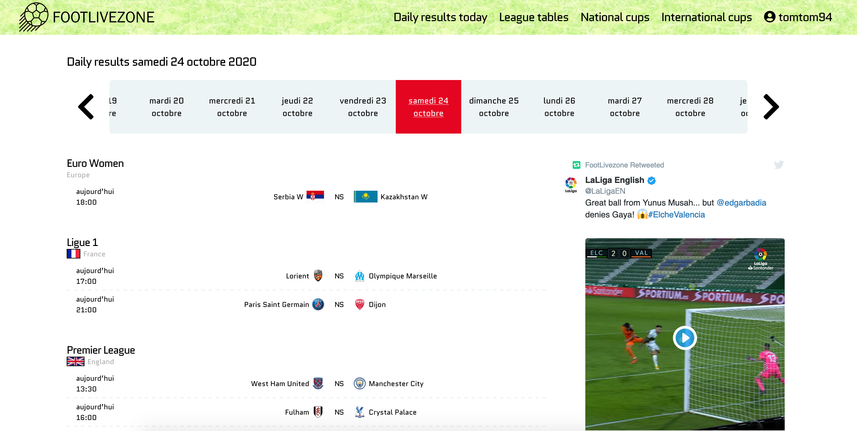 Animated League Table Evolution Round Per Round For Football Or Soccer Footlivezone Medium