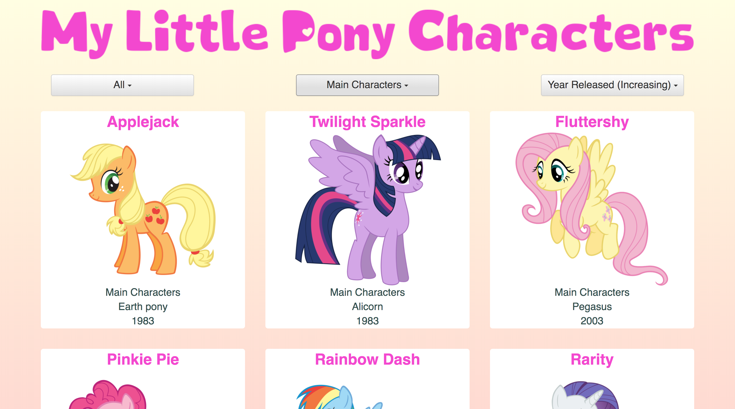 My Little Pony Webapps Are Magic Rebecca Townsend Medium