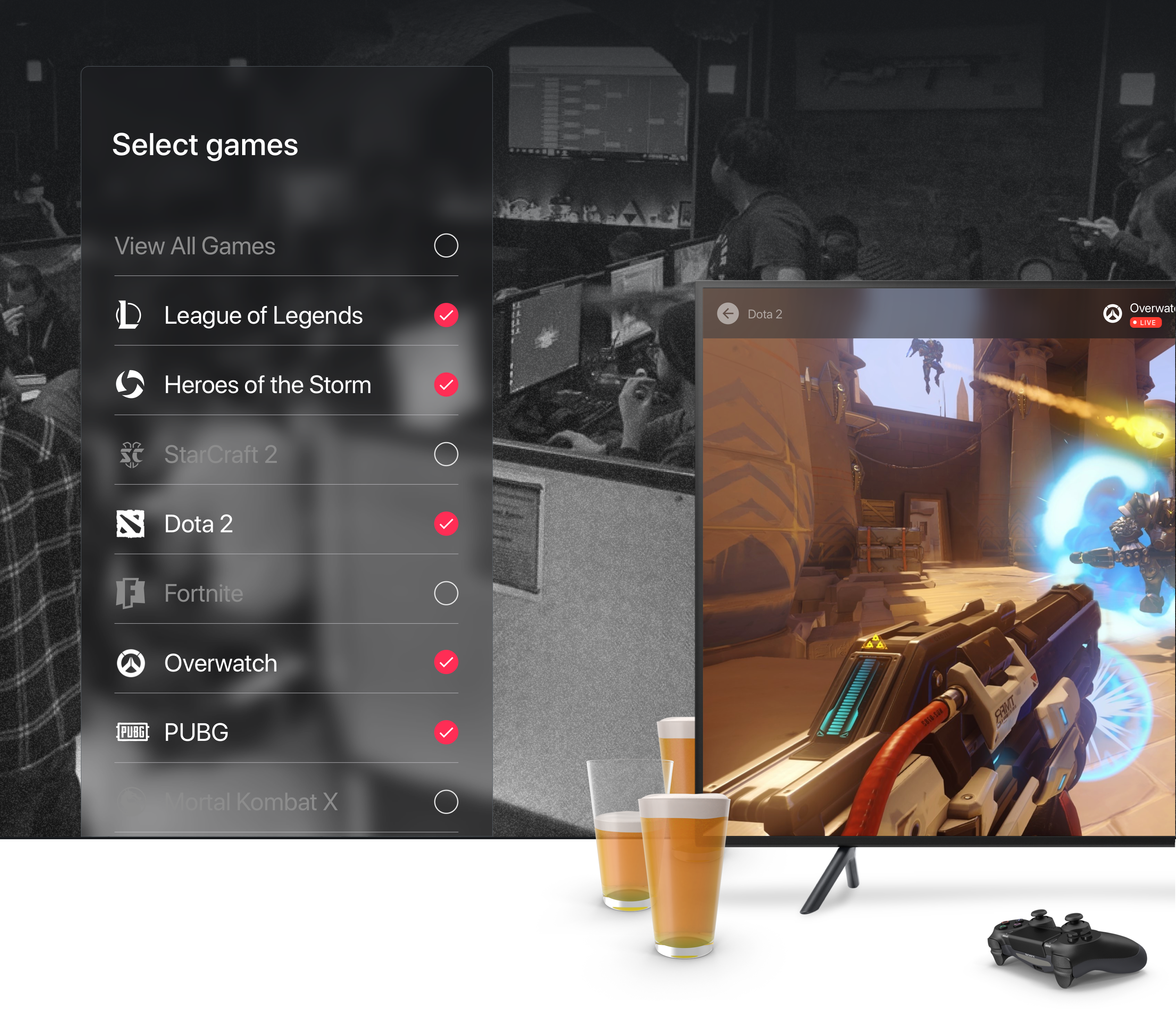 UI\UX Case Study: Designing eSports for TV - UX Planet
