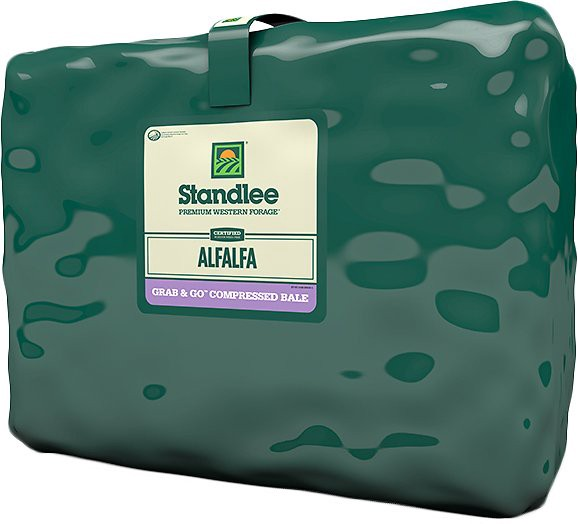 Standlee Certified Alfalfa Grab & Go Compressed Bale Forage Horse Feed