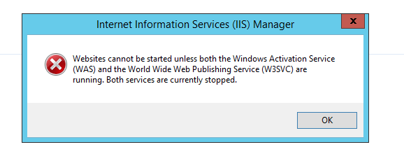 Solved] IIS Website cannot be started unless both the