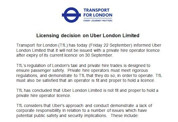 UberLondon: A Parable for 21st Century Business