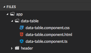 Building a generic data-table component in angular 5 with material 5