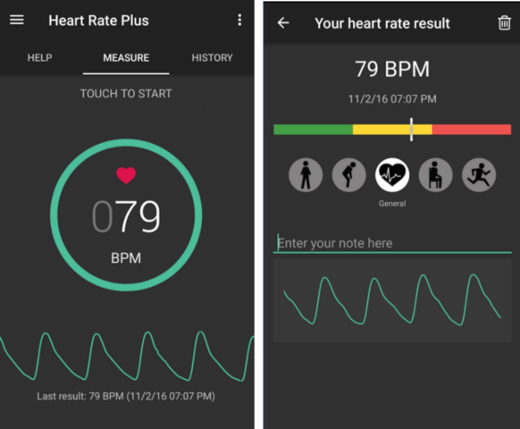 Heart Rate Plus is a great iOS & Android free app to follow