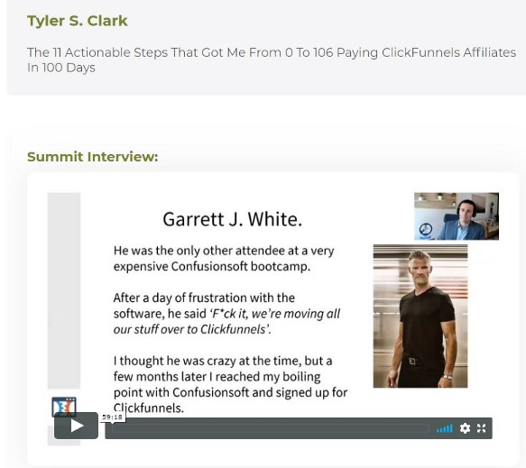 Clickfunnels affiliate bootcamp review of tyler`s interview