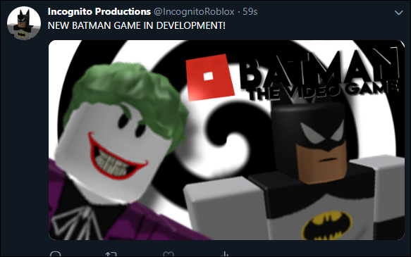 Roblox Twitter Account New Batman Game Revealed Exclusive By Roblox Topic Medium