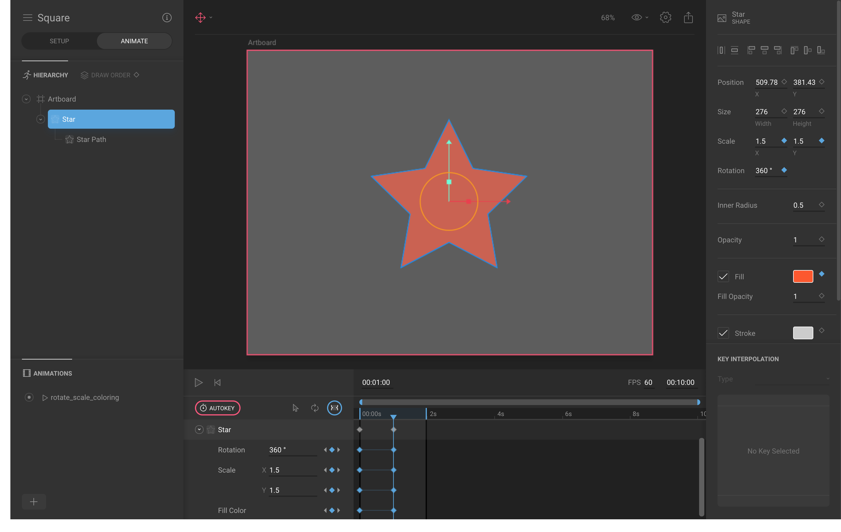 How to Flare a Flutter app? Part 1 - Create Animation