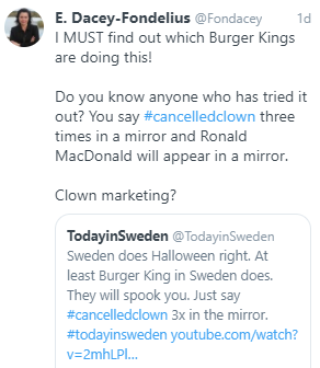 A Twitter user wants to know which Burger Kings had the promotion.