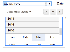 Making input type=date complicated - Samsung Internet