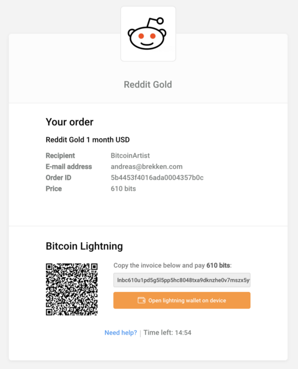 Bitcoin Lightning Network #3: Paying for goods and services
