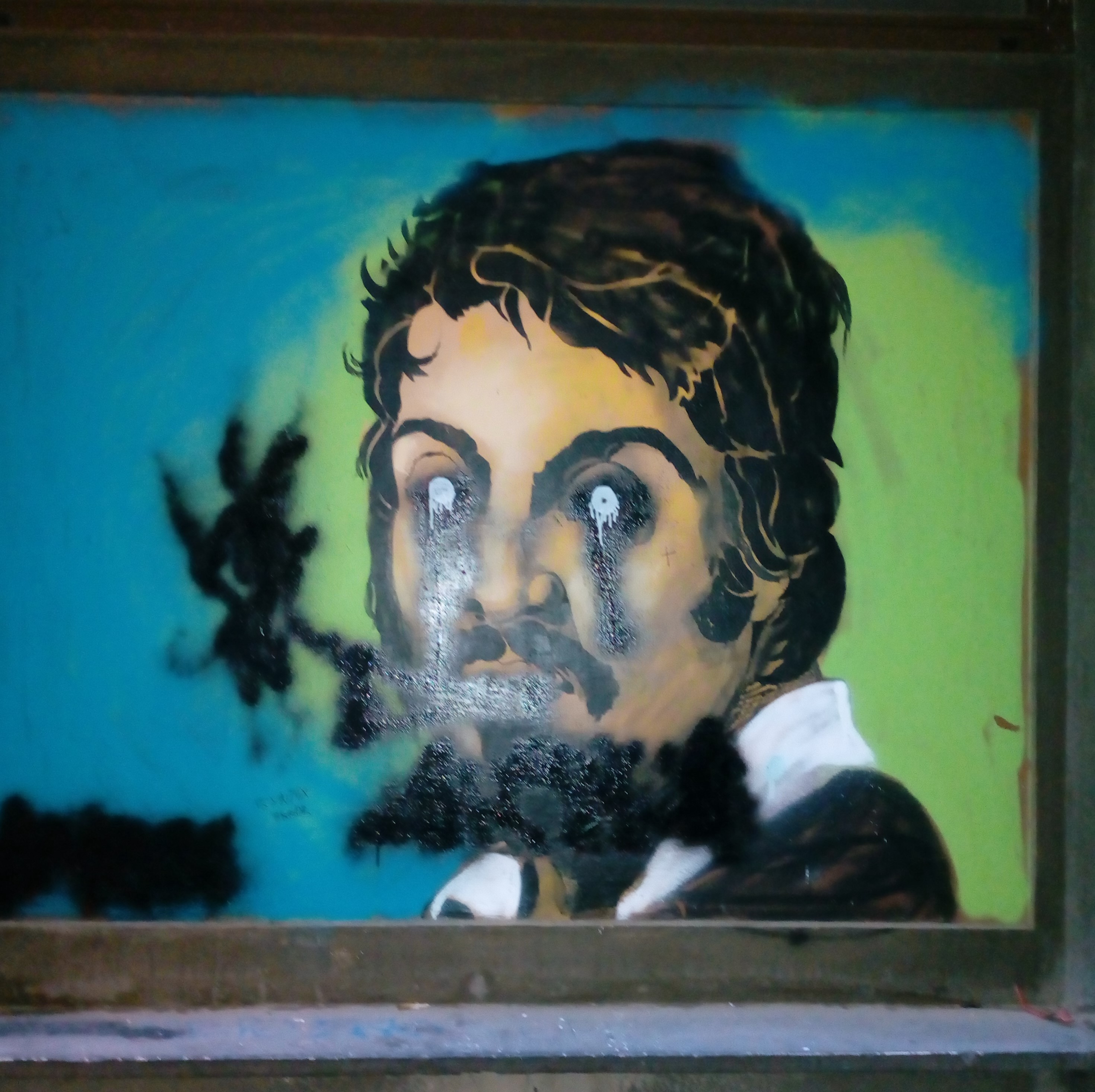 Diary from Roma, Italy: Caravaggio's painting studio and its secret. Street art tribute