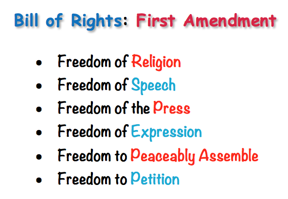 Bill of Rights: 1st Amendment. Read my previous article concerning… | by MA  Redpine | Medium