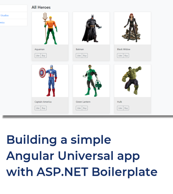 Building a simple Angular Universal application with ASP NET