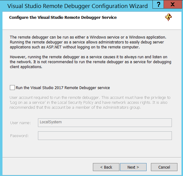 Quick Reference: (Step by step) Making Visual Studio remote