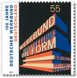 The Design from a German stamp.