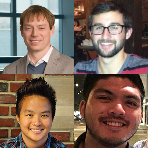 Clockwise from top left: Lee Bassett, David Hopper, Joseph Lauigan and Tzu-Yung Huang