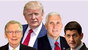 mcconnell, trump, pence and ryan