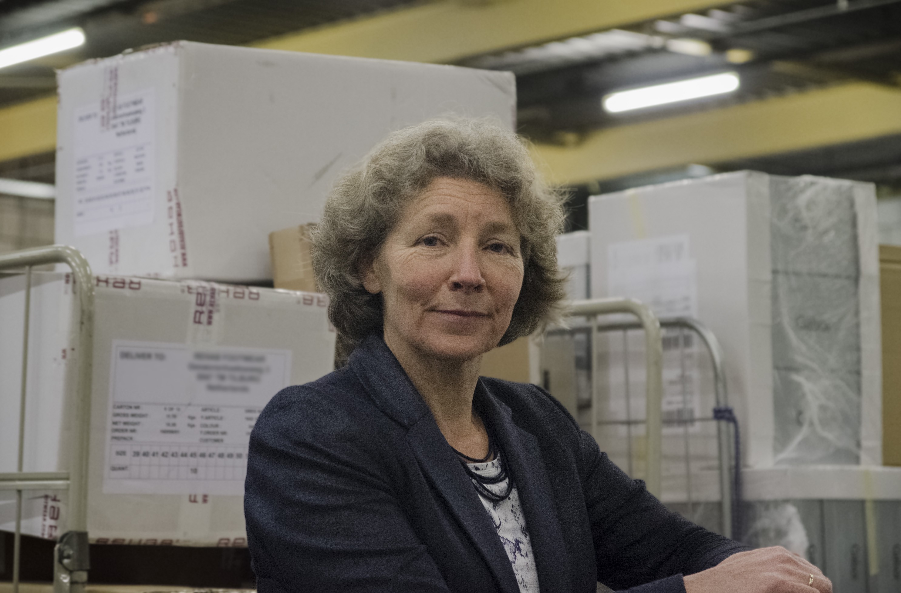 A photograph of Birgit Hendriks, who launched the Binnenstadservice logistics hubs in Nijmegen.