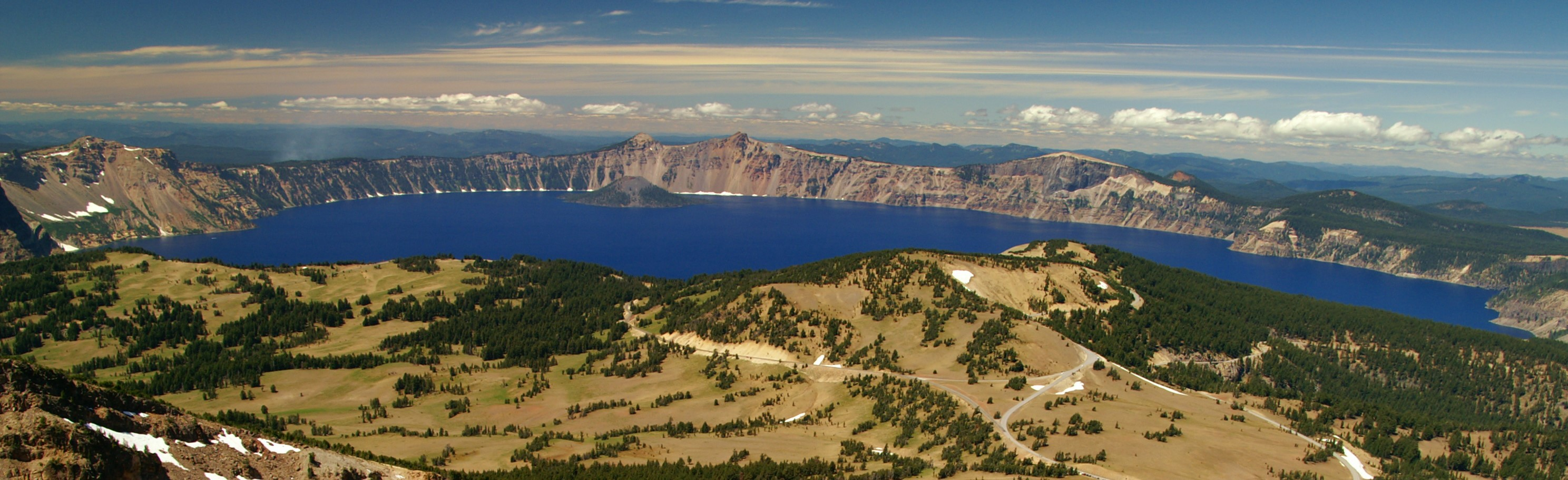 A view of Crater Lake National Park from Mt. Scott. Photo by Crater Lake National Park.