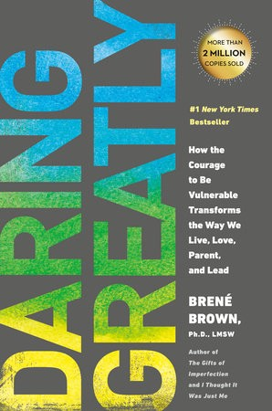 The cover of Daring Greatly by Brené Brown