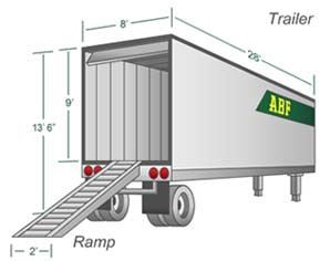 a moving trailer with ramp