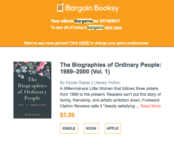 This Week in Self-Publishing: The BargainBooksy Promo Worked