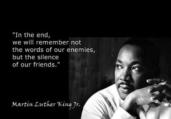 """Reflections on the MLK Holiday and the Silence of """"Allies"""""""