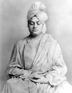 Image of Swami Vivekananda in meditative
