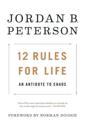 """The cover of Jordan B. Peterson's book """"12 Rules For Life."""""""