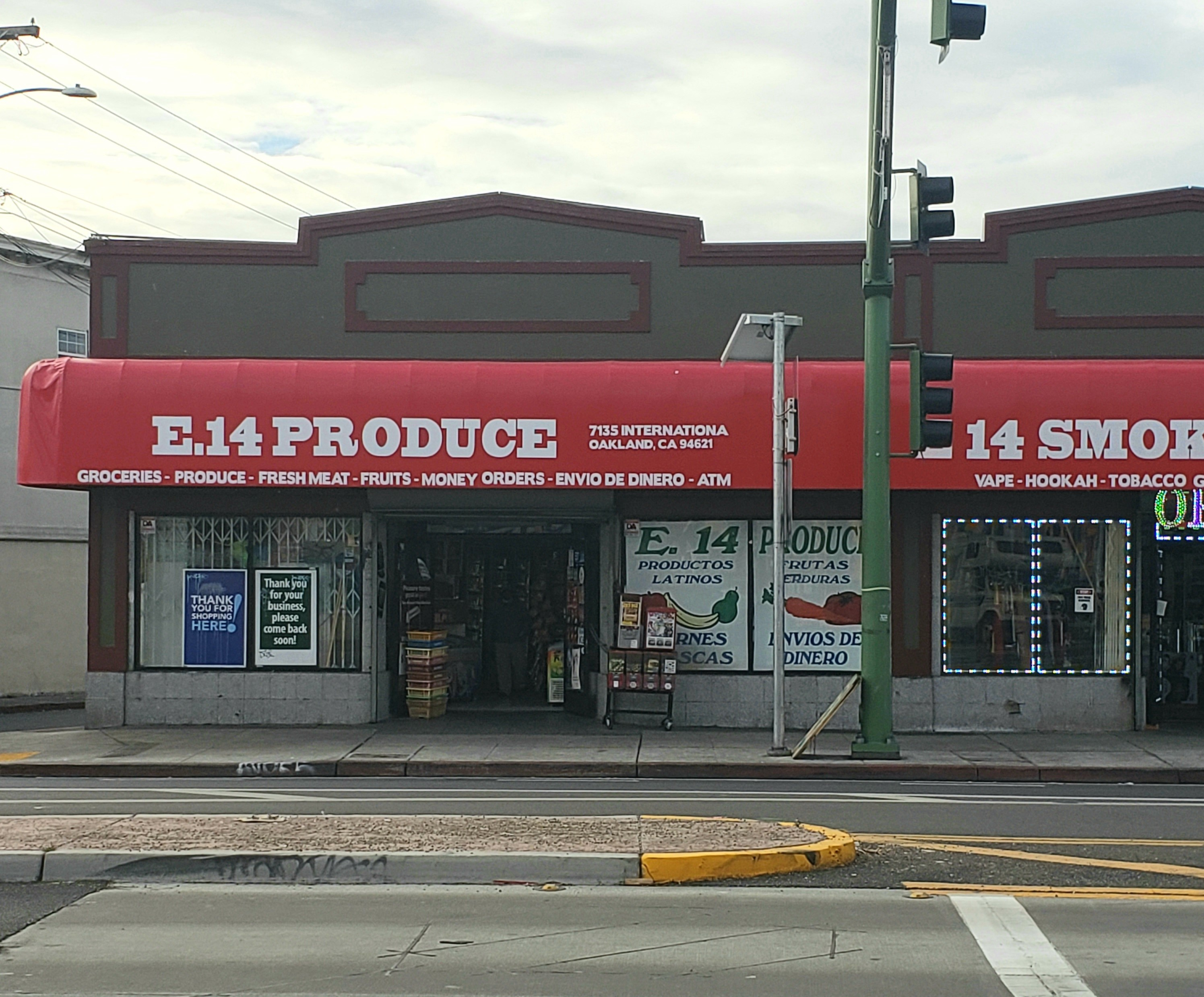 E. 14th Produce store front