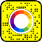 Snapcode for lens that samples colors with the Procedural Texture Provider